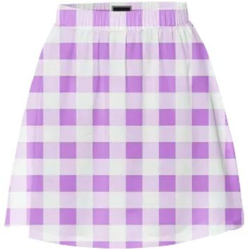 LAVENDER GINGHAM Summer Skirt