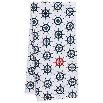 Coastal Anchor's Away Beach House Cotton Dish Towel