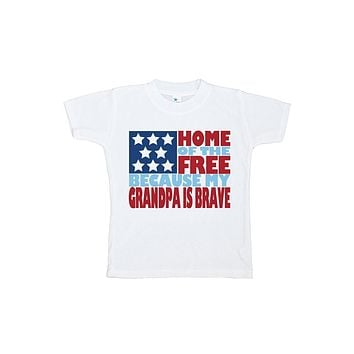 Custom Party Shop Kid's Grandpa is Brave 4th of July T-shirt