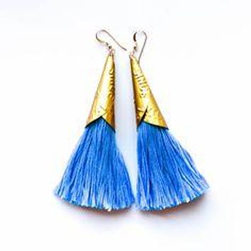 Often Wander - Jingle Earrings | Blue