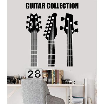 Vinyl Wall Decal Guitar Collection Shop Musical Instruments Stickers Unique Gift (941ig)
