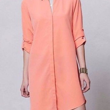 NWT Anthropologie Saturation Shirtdress Dress Sz 2 and 10 - By Sachin + Babi