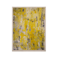 "CarolLynn Tice ""Picking Around"" Yellow KESS Naturals Canvas (Frame not Included)"