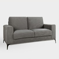 Gray Tweed Fletcher Love Seat