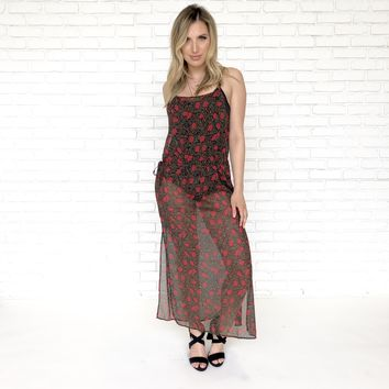 Ruby Rose Sheer Maxi Dress