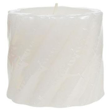 Peppermint-Scented Twisted Pillar Candles