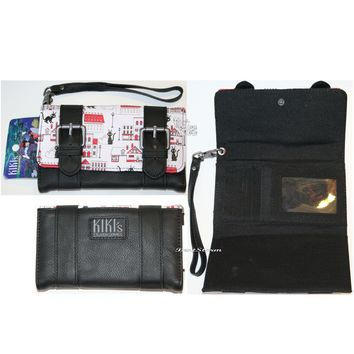 Licensed cool Studio Ghibli KIKI'S DELIVERY SERVICE Double Buckle Wristlet Trifold Flap Wallet