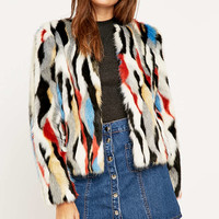 Jakke Angela Collarless Jacket - Urban Outfitters