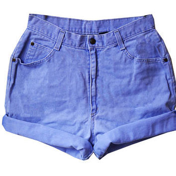 SALE - Electric Purple High Waisted Shorts