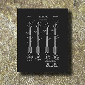 Archery Hunting Arrow Patent 1945 Art Illustration Printable Instant Download Print Poster UP003b
