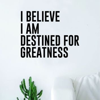 Destined for Greatness Quote Wall Decal Sticker Bedroom Home Room Art Vinyl Inspirational Teen Kids Nursery Sports School
