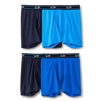 C9 Champion Boys' 4-Pack Mid Rise Boxer Briefs, Assorted Colors, Large