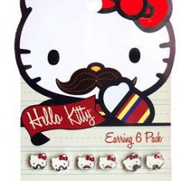 Hello Kitty Mustache Earrings