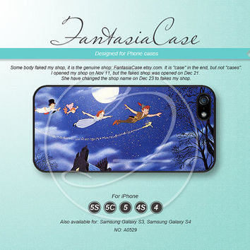 Never grow up, Peter Pan, iPhone 5 case, iPhone 5C Case, iPhone 5S case, Phone cases, iPhone 4 Case, iPhone 4S Case, iPhone case, FC-0529