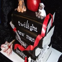 Twilight Books cake