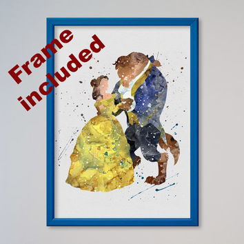 Beauty and the Beast Disney Poster FRAMED Print Belle Picture