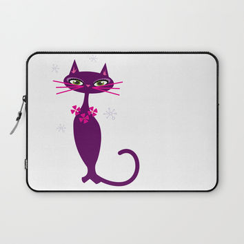 Lady Cat Laptop Sleeve by Colorful Art