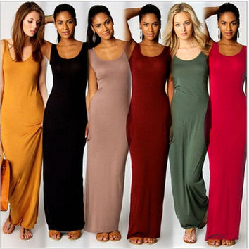 Long slim fit maxi dress