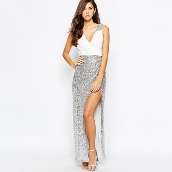Sexy V-neck One Piece Party Dress [9022450948]