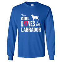 This Girl Loves Her Labrador Tshirt - Long Sleeve T-Shirt