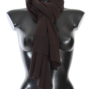 Brown Cashmere Knitted Scarf