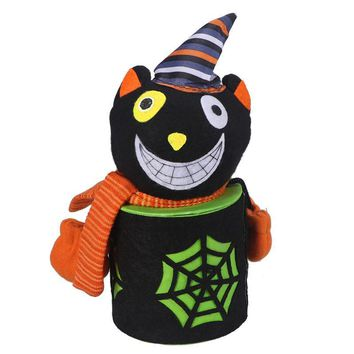 Halloween Cute Candy Bucket Pumpkin Cartoon Cookie Sweet Container Holder Canister Gift For Kids Halloween Home Party Decoration