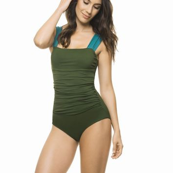 Estivo Green Draping One Piece