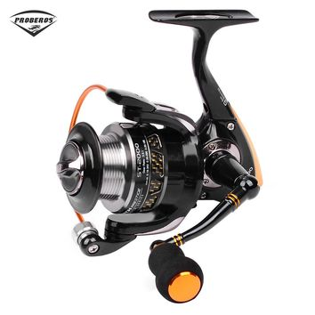PRO BEROS 5.5:1 All-Metal Lightweight Fishing Reel 9 Ball Bearing Spinning Fishing Reel Aluminum Alloy With Metal Wire Cup