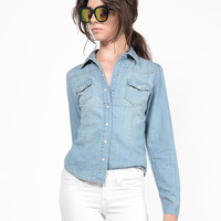Classic Denim Button Up Shirt