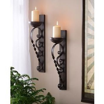 Twisted Pillar Sconce, Set of 2 | Kirkland's