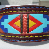 Large dog collar, American tribal collar, large collars, Sharpei collar, handmade leather collars, thick collars