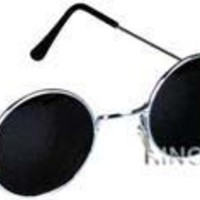 John Black 60'S Hippie Sunglasses Smoke Hippy Glasses