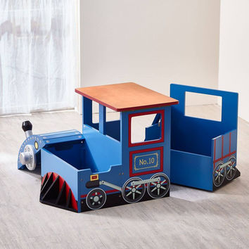 Teamson Kids - Trains & Trucks Train Writing Desk