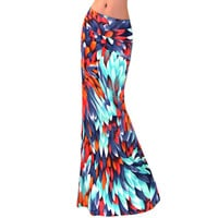 High Waist Slim Fit Printing Skirt