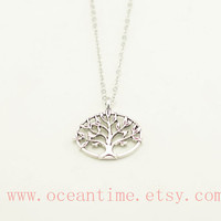 wishing tree necklace,family tree necklace,lucky tree necklace,necklace,friendship necklace,oceantime