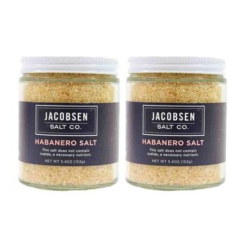 2 Pack Jacobsen Salt Habanero Infused Sea Salt, 5.4 oz.