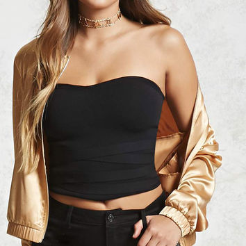 Strapless Crisscross Top - Women - 2000096340 - Forever 21 Canada English