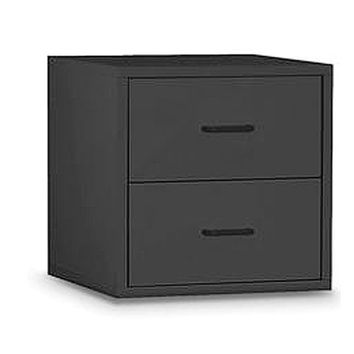 Organize It All 84618 Black Two Drawer Cube