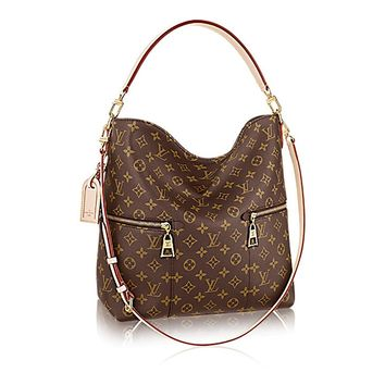 Authentic Louis Vuitton Mélie Monogram Canvas Leather Shoulder Handbag Article:M41544 Made in France