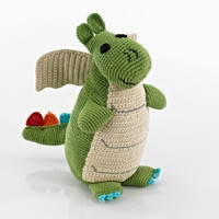 Green Dragon Cotton Knit Fair Trade Doll