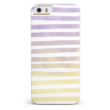 Purple to Yellow WaterColor Ombre Stripes iPhone 5/5s or SE INK-Fuzed Case