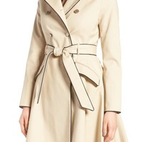 Ted Baker London Piped Belted A-Line Macintosh Coat | Nordstrom
