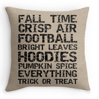 Fall Faux Burlap Pillow Cover