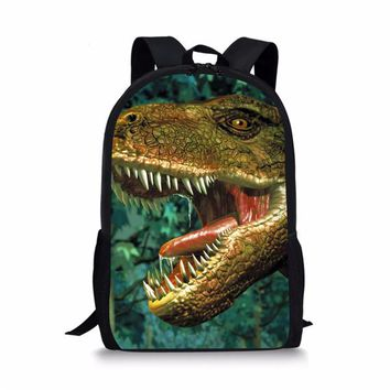 Cool Backpack school FORUDESIGNS Printing Kids 3d Dinosaur School Bag Cool Animal Zoo Schoolbag for Primary Junior Children Hipster Boy Child Bookbag AT_52_3