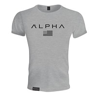2018 summer new men cotton Short sleeve T-shirt Fitness bodybuilding workout t shirts male Brand tee tops Fashion casual clothes-Multiple colors