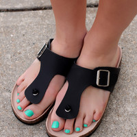 Walk With Me Sandal - Black