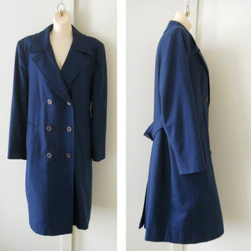 Navy Pea Coat / Navy Peacoat / Pendleton Pea Coat / Womens Pea Coat / Womens Wool Peacoat / Blue Peacoat Womens Outerwear Womens Winter Coat