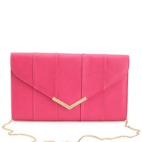 Large Pieced Envelope Clutch: Charlotte Russe