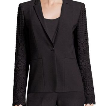 Elie Tahari - Corrian Lace Cutout Sleeve Jacket
