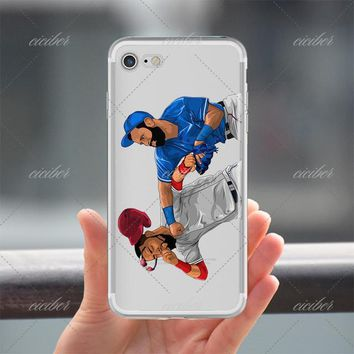 Baseball Fight Clear Phone Case for ALL iPhone 7 7Plus 6 6s Plus 5 5s SE